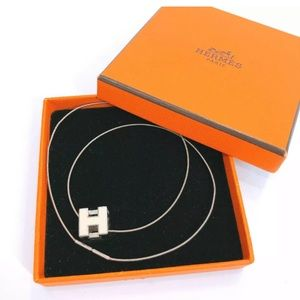100% Authentic HERMES Necklace H cube
